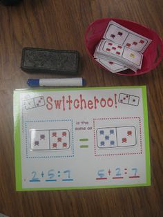 I would use this game for teaching the commutative property.  This would be awesome for teaching activities, such as that! I would also use it to teach things that are equal/not equal.  This could be used starting in Kindergarten and going all the way up to possibly 5th grade.