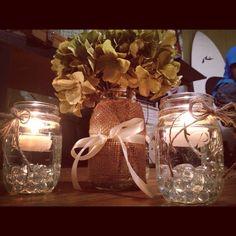 western wedding decorations | DIY hydrangea, burlap, and twine wedding ... | Western Party Ideas