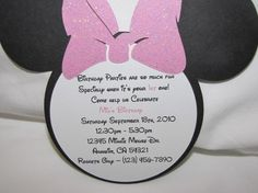 10 Personalized Minnie Mouse Birthday by uniqueboutiquebygami, $16.50