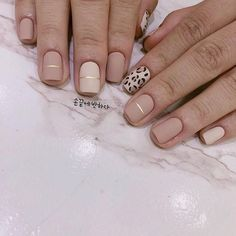 cheetah accent nails with neutral acrylic How to utilize nail polish? Nail polish in your friend's nails looks perfect, however you can't apply nail polish Trendy Nails, Cute Nails, My Nails, Fall Nail Designs, Acrylic Nail Designs, Acrylic Nails, Art Designs, Accent Nail Designs, Cheetah Nail Designs