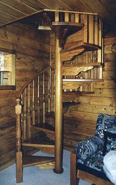Wooden Balusters for spiral staircase. #HomeImprovement #InteriorDesign