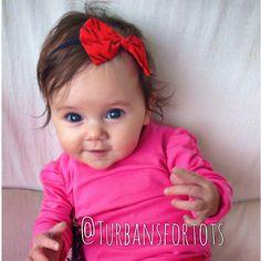 Baby bow headband by turbansfortots on Etsy