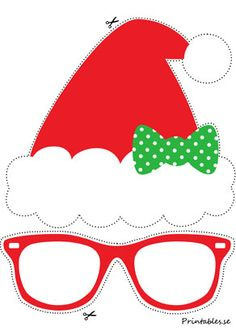 Create your own photo booth and kick off the fun poses with these free printable playful photo prop Christmas Arts And Crafts, Preschool Christmas, Christmas Hat, Christmas Activities, Christmas Photos, Free Printable Christmas Cards, Christmas Templates, Christmas Party Decorations, Christmas Themes