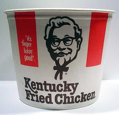 On the farm, we would fry our own chicken, but when we visited Grandma & Grandpa Hawkins, it came straight from Colonel Sanders.