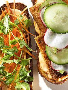 Vietnamese-Style Tofu Sandwiches #recipe