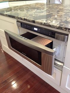 drawer microwaves | Drawer Microwave in Kitchen Island | Lake Kitchen Ideas