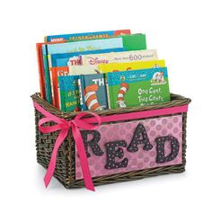 This would be a cute gift idea for a baby shower --ask everyone to bring a book…