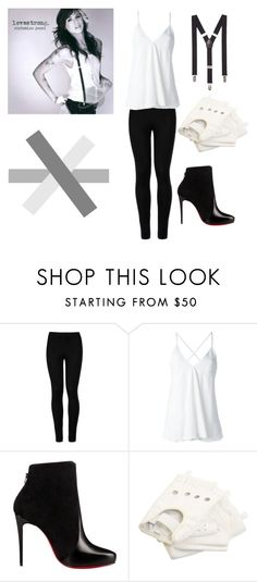 """christina perri"" by i-heart-fashion14 ❤ liked on Polyvore featuring Wolford, Dondup, Christian Louboutin, adidas and Express"