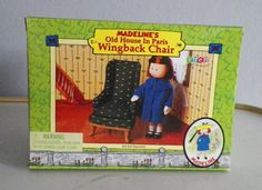 MADELINE'S OLD HOUSE IN PARIS DOLL FURNITURE WING BACK CHAIR EDEN 2000 NIB #HousesFurniture