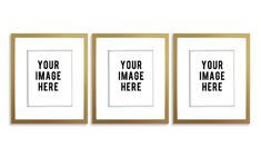 Product Mockup Digital Empty Gold Frame with by moderncolormix