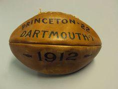 Football from Princeton v. Dartmouth game, 1912