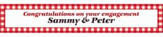 Custom American Summer Red Gingham Banner 6ft - Party City