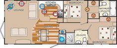 New Hampshire Classic 40 x 16 2bed sleeps4 floor plan
