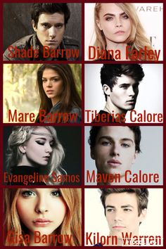 My dream cast for Red Queen (Red Queen Trilogy #1) by