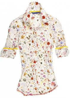 61f0ca78153 The stunning Liberty of London floral Sophia blouse is detailed with a  yellow crushed velvet ribbon inside the collar and cuffs. All seams are  done to ...