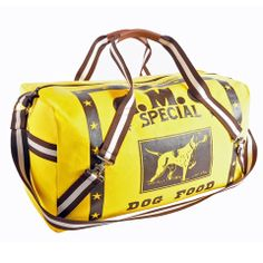 Maryann Duffel Yellow Dog - Rebecca Ray Designs rebeccaraydesigns.com  Made in America.