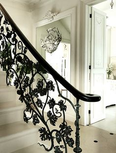 :: black stairway :: hanging pendant