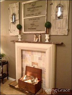 1000 images about faux fireplace w shelves on pinterest Fireplace ideas no fire