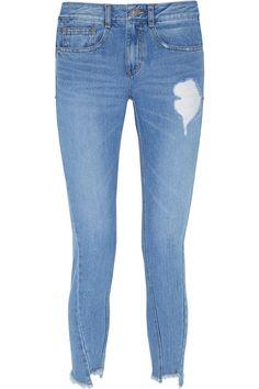 STEVE J & YONI P Distressed straight-leg jeans. #stevejyonip #cloth #jeans