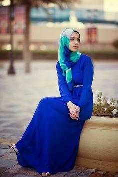 shades of blue - gorgeous! #hijab $hijabi