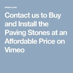 Are you looking for a place to buy and install paving stones in Cape Town?If yes then you can contact the installers of our company for installation. Contact Us, Paving Stones, Stuff To Buy, Flooring