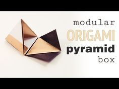 Learn how to make an origami pyramid box or pot. The lid rests nicely on top making this origami box a really nice decoration. Get a FREE printable origami p. Diy Origami, Cute Origami, Origami And Kirigami, Origami Ball, Origami Paper Art, How To Make Origami, Paper Crafts, Oragami, Origami Instructions