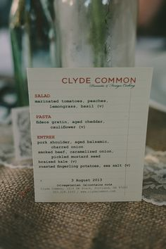 still in love with typewriter font!! via Wedding Chicks