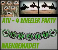 Hey, I found this really awesome Etsy listing at https://www.etsy.com/listing/188040345/atv-4-wheeler-party-pack-name-banner-2dz