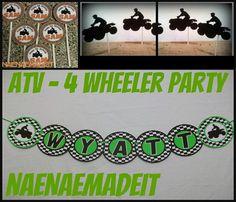 Items Similar To ATV 4 Wheeler Party Pack