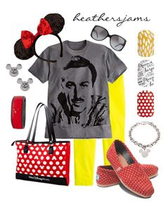 """Walt Disney World"" by heathersjams ❤ liked on Polyvore featuring J.Crew, Disney, Gucci and TOMS"