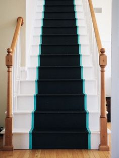 Find out how this blogger added a non-skid grip to her stairs.