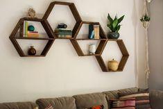 Essentially Erika » Blog Archive DIY Honeycomb Hexagon Shelves - Essentially Erika