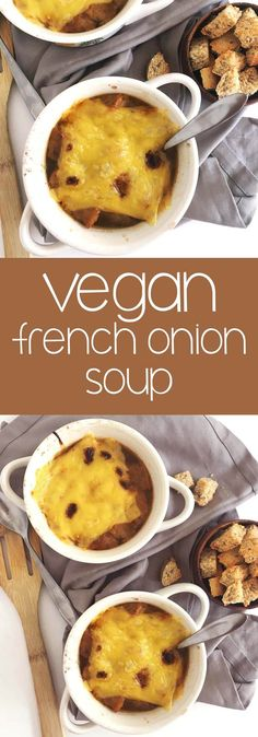 Vegan French Onion Soup Recipe: French onion soup is so luscious and rich - and this alternative healthy, vegan french onion soup is no exception! | thecrunchychronicles.com