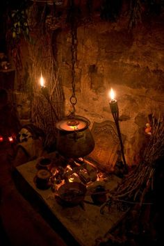 Wiccan Beliefs Wicca is a from of witchcraft that honour's the balance of life… Witch Cottage, Witch House, Halloween Art, Halloween Decorations, Halloween Witches, Happy Halloween, Victorian Halloween, Altar Decorations, Spirit Halloween