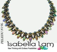 PELEDU incredibile D.I.Y KIT perle, foglie cechi e collana di perline SuperDuo