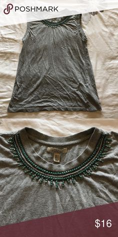 Zara embellished collar top Gorgeous top! Can fit a size small even though tag says medium Zara Tops