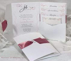 Gorgeous Wedding Invitation by SDezigns on Etsy, $8.00