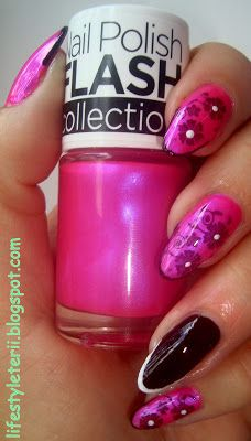 Kolorowy Świat Terii: Flash Nail Polish 412, Barbie Róż