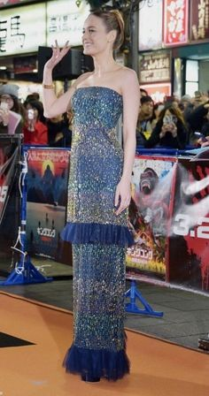 Brie Larson in Rodarte attends the Tokyo premiere of 'Kong: Skull Island'. #bestdressed