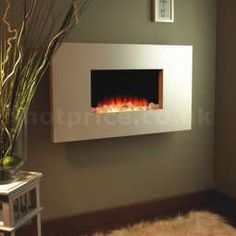 Flamerite Fires Corello 2 Wall Mounted Electric Fire - Stone - Hotprice.co.uk