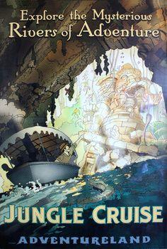 Poster the the Jungle Cruise in Adventureland, Magic Kingdom.
