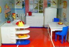 "Renwal Plasco Kitchen Set with EXTRAS Vintage Dollhouse Furniture 3 4"" Marx | eBay"
