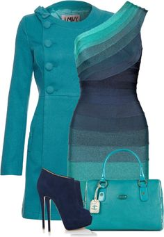 """Blue Envy"" by fashion-766 on Polyvore and I don't even like blue but this is awesome!"