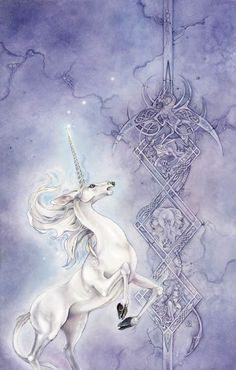 Cover illustration by Stephanie Pui-Mun Law for Peter S. Beagle's upcoming collection The First Last Unicorn and Other Beginnings