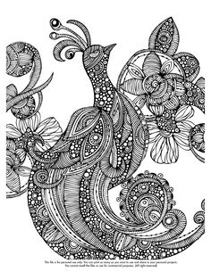 Happy Coloring Monday! Here you free coloring page  http://valentinadesign.com/images/printables/paradisebird_08_26_VH.pdf  Enjoy it!