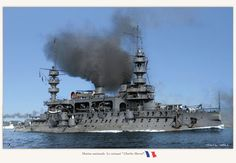 Colorized image of the French battleship  Charles Martel. Description from pinterest.com. I searched for this on bing.com/images