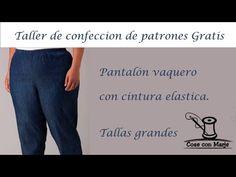 👖 PANTALON VAQUERO (TALLAS GRANDES)👖TALLER DE CONFECCIÓN DE PATRONES GRA... Sewing, Pants, Virginia, Youtube, Fashion, Elastic Waist, Design Patterns, Sewing Patterns, Pants Pattern