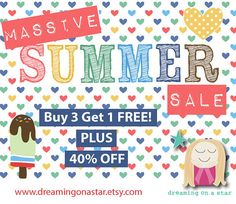 40% OFF Summer SALE ♥ PLUS ♥ BUY 3 GET 1 FREE ♥  Dreaming on a Star