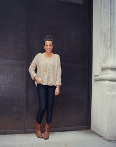 Simple Sweater on #LexWhatWear @Rachel Roy @James Richter @DSW Designer Shoe Warehouse #fall #fashion #streetstyle #jeans #boots #sweater #elephantnecklace http://lexwhatwear.com/simple-sweater/