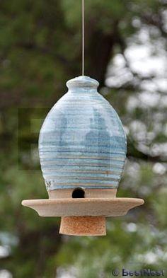 Cool little bird feeder! I need really pretty birds coming around!